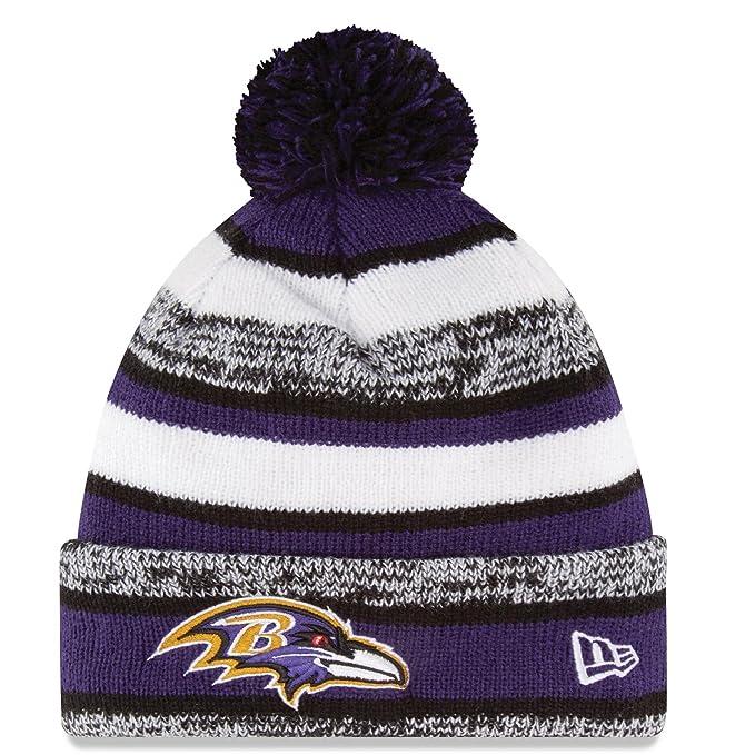 New Era Baltimore Ravens 2014 On Field Sport Cuffed Pom Knit Beanie Hat Cap 97f28c4fd