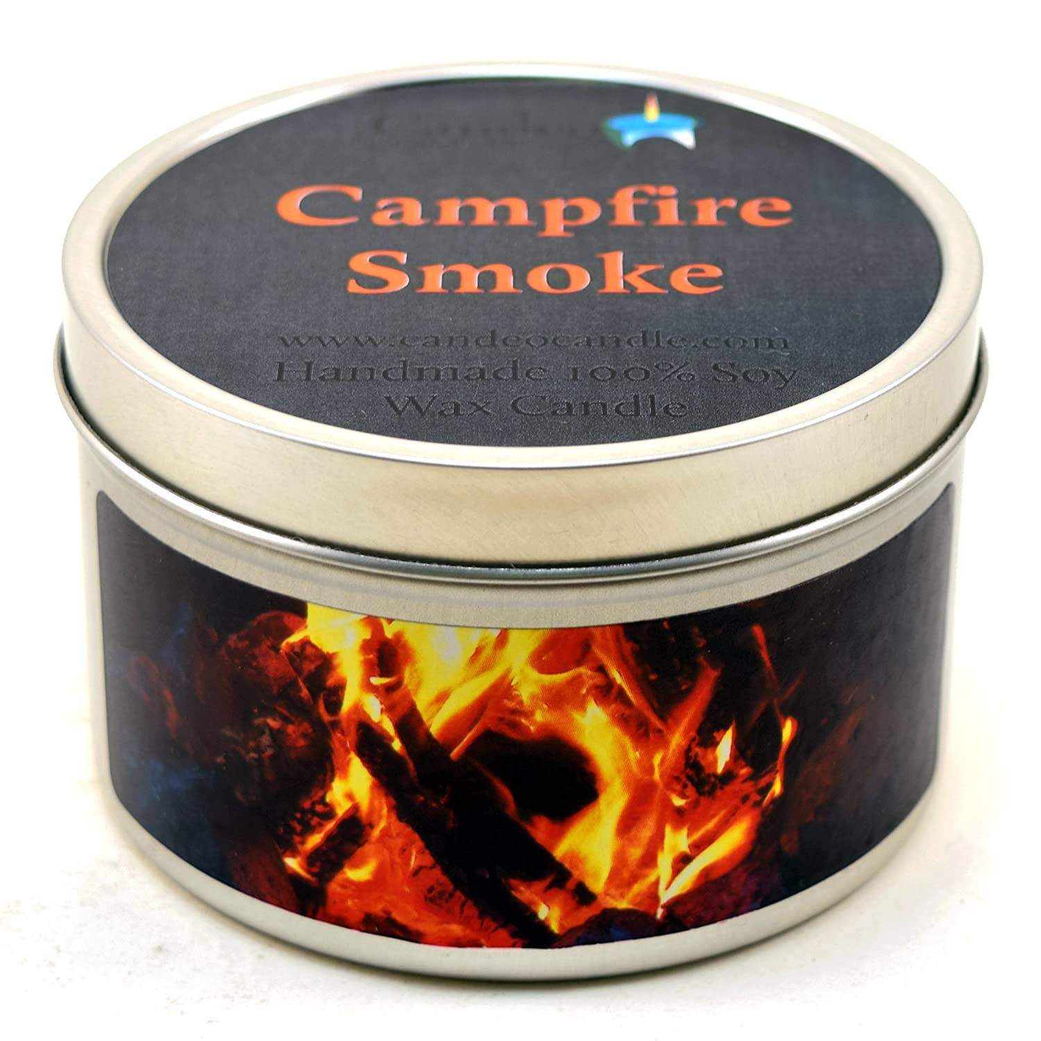 Campfire Smoke Super Scented Soy Candle Tin (4 oz) Candeo Candle 551