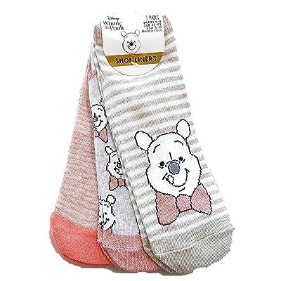-:Disney:- - ; Winnie The Pooh 3 Pack de zapatos para mujer y calcetines de tobillo regalo nuevo BNWT: Ropa y accesorios