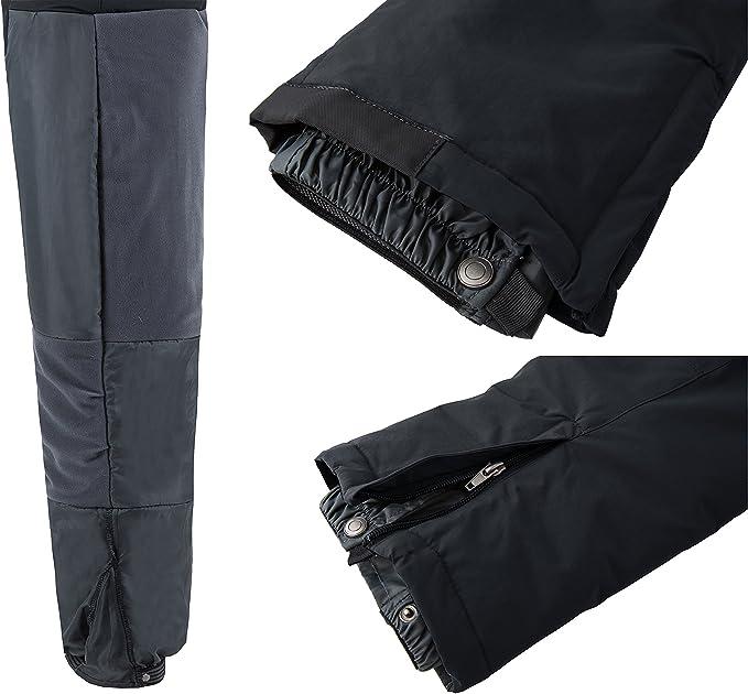 Wantdo Pantaloni Neve Sci Impermeabili Bavaglini Ragazzo