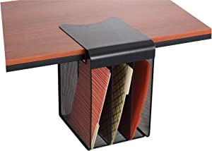 Safco Products 3243BL Onyx Mesh Solid Top Vertical Hanging Desk Storage, Black