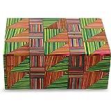 NOVICA Bollywood Wood Decorative Box, Multicolor 'Jaipuri Puzzle'