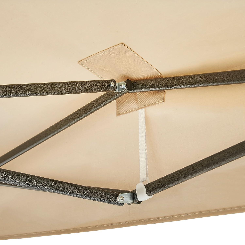 VonHaus Tonnelle Ivoire de Qualit/é Sup/érieur 3 M x 3 M avec Pieds Lest/és Auvent Imperm/éable et Pieds T/élescopiques