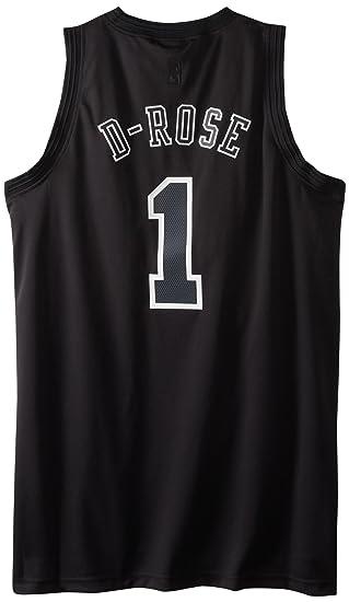 3d9b8e164737 adidas Derrick Rose Chicago Bulls Adult Alternate Black Swingman Jersey