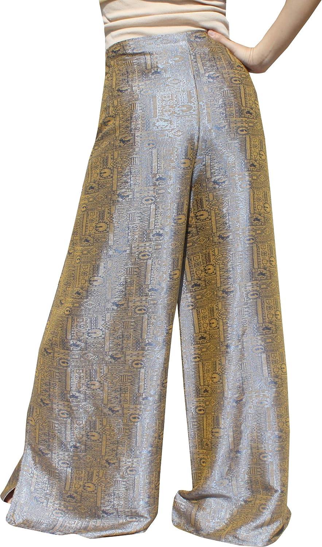 RaanPahMuang Brand Geometric Thick Textured Silk Drive In Wrap Pants