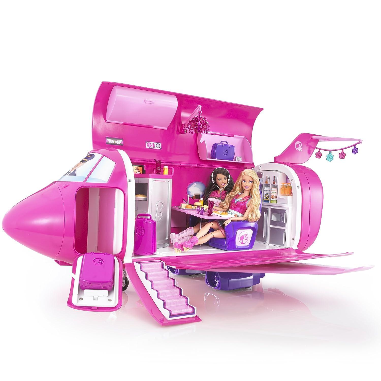 Pink Airplane Glamour Jet Playset Idade Media