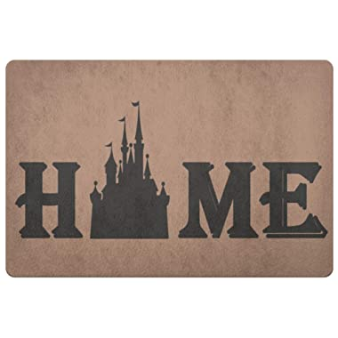 Personalized Doormat Disney Castle Home Coir Doormats - Front Doormat - Door Mat Coir Doormat - Porch Decor - Wedding Gift - Housewarming Gift Rug