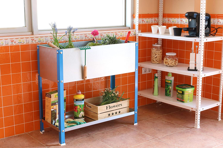 Huerto urbano alto Urban Garden Top Azul/Galvanizado Simonrack ...