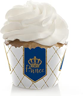 product image for Royal Prince Charming - Baby Shower or Birthday Party Decorations - Party Cupcake Wrappers - Set of 12