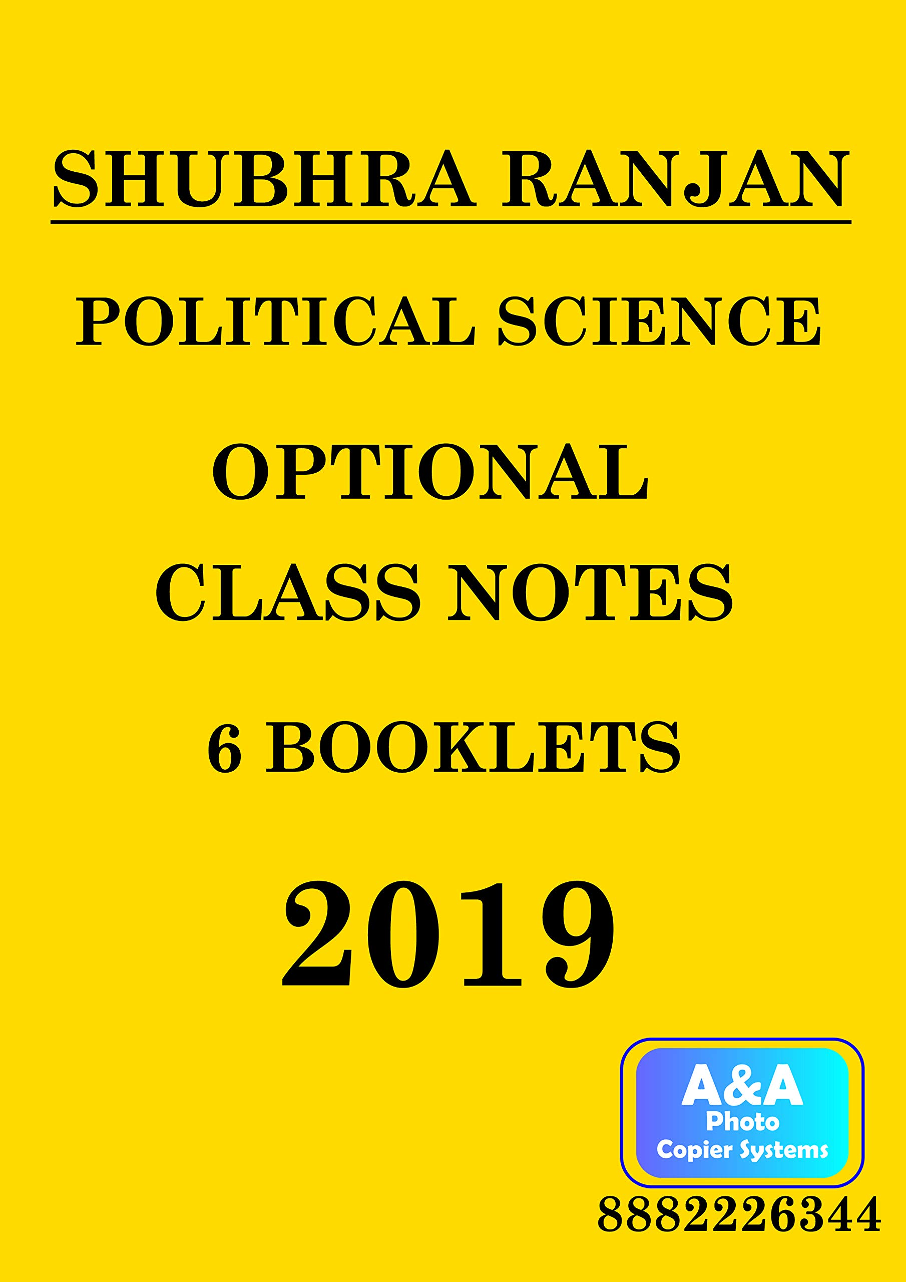 Amazon in: Buy Political Science Optional Class Notes By
