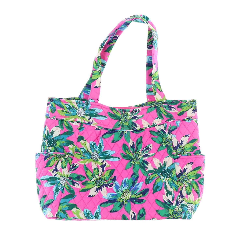 Vera BradleyプリーツトートバッグZip Top Bag ピンク B07BLMH418 Tropical Paradise