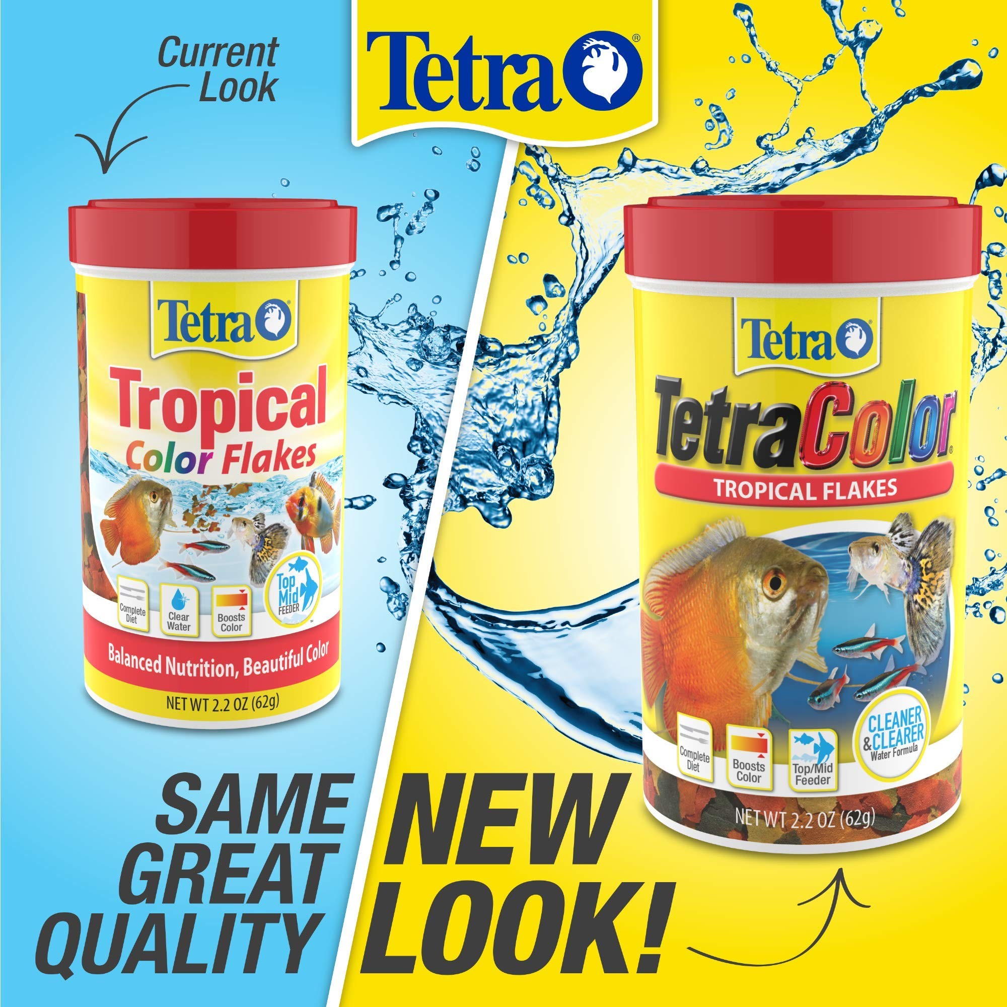 Tetra TetraColor PLUS Tropical Fish Flakes, 7.06-Ounce by Tetra