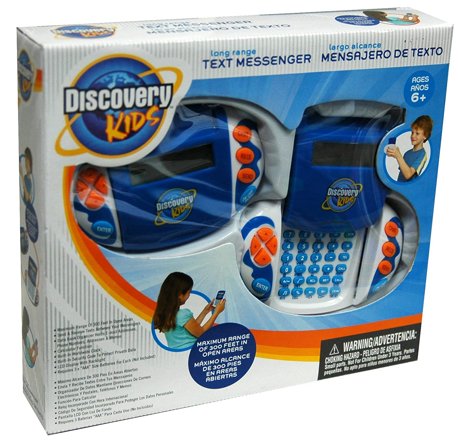 Amazon.com: Discovery Kids Long Range Text Messenger - Blue (Includes 2 Text Messengers): Toys & Games