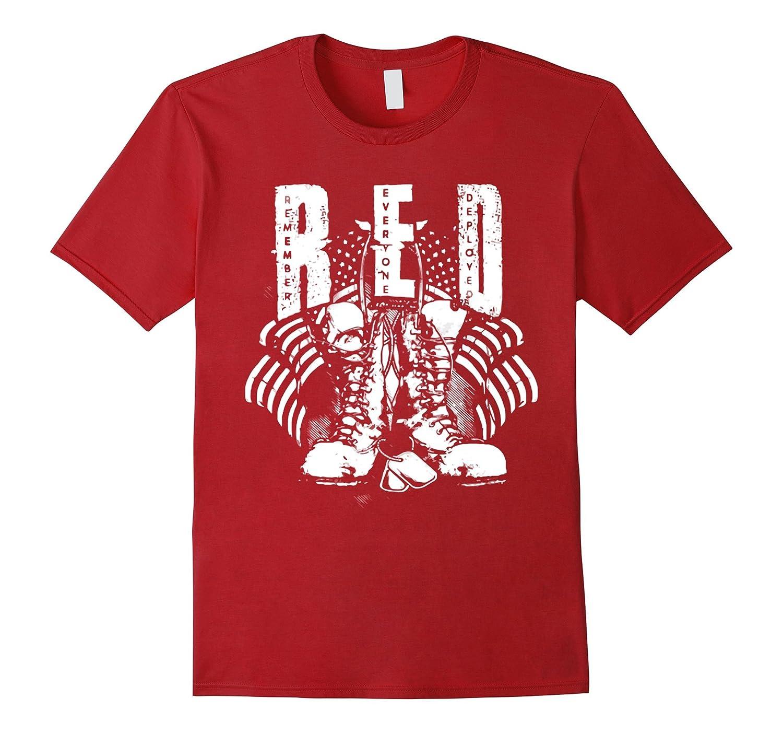 Veteran shirt Remember Everyone Deployed Red Friday T-Shirt-RT