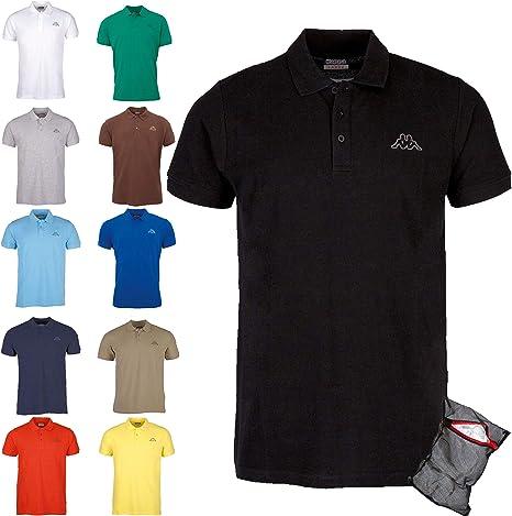 Kappa Polo Clásico Edición ZiATEC con práctica Bolsa de lavandería | Camisa de Golf básica de Mangas Cortas, Mezclas en Muchos Colores: Amazon.es: Deportes y aire libre