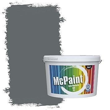 McPaint Bunte Wandfarbe Anthrazit   10 Liter   Weitere Graue Farbtöne  Erhältlich   Weitere Größen Verfügbar