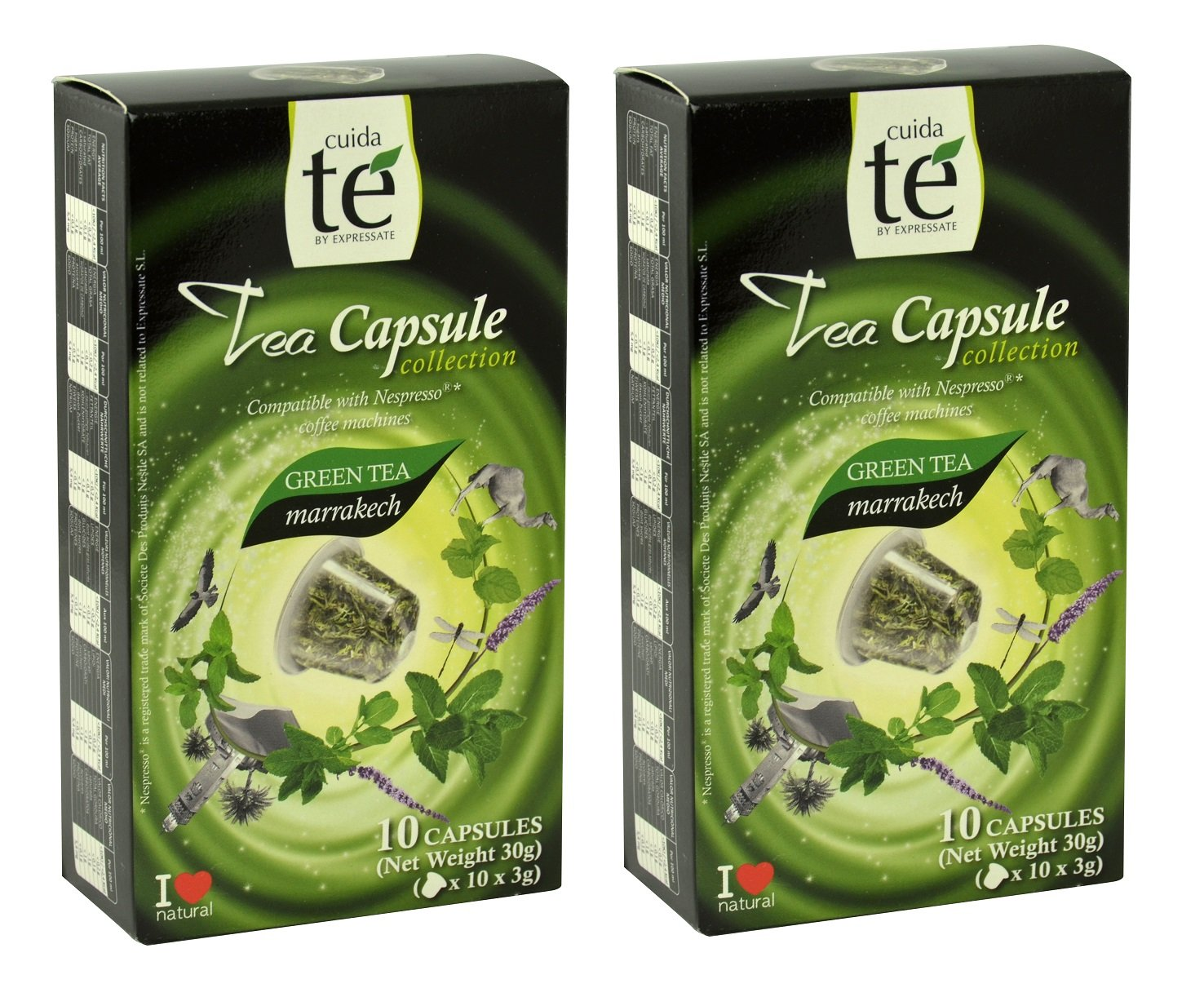 20 Nespresso Compatible Tea Pods - Marrakech Green Tea, 2 Boxes - 10 Pods / Box: Amazon.com: Grocery & Gourmet Food