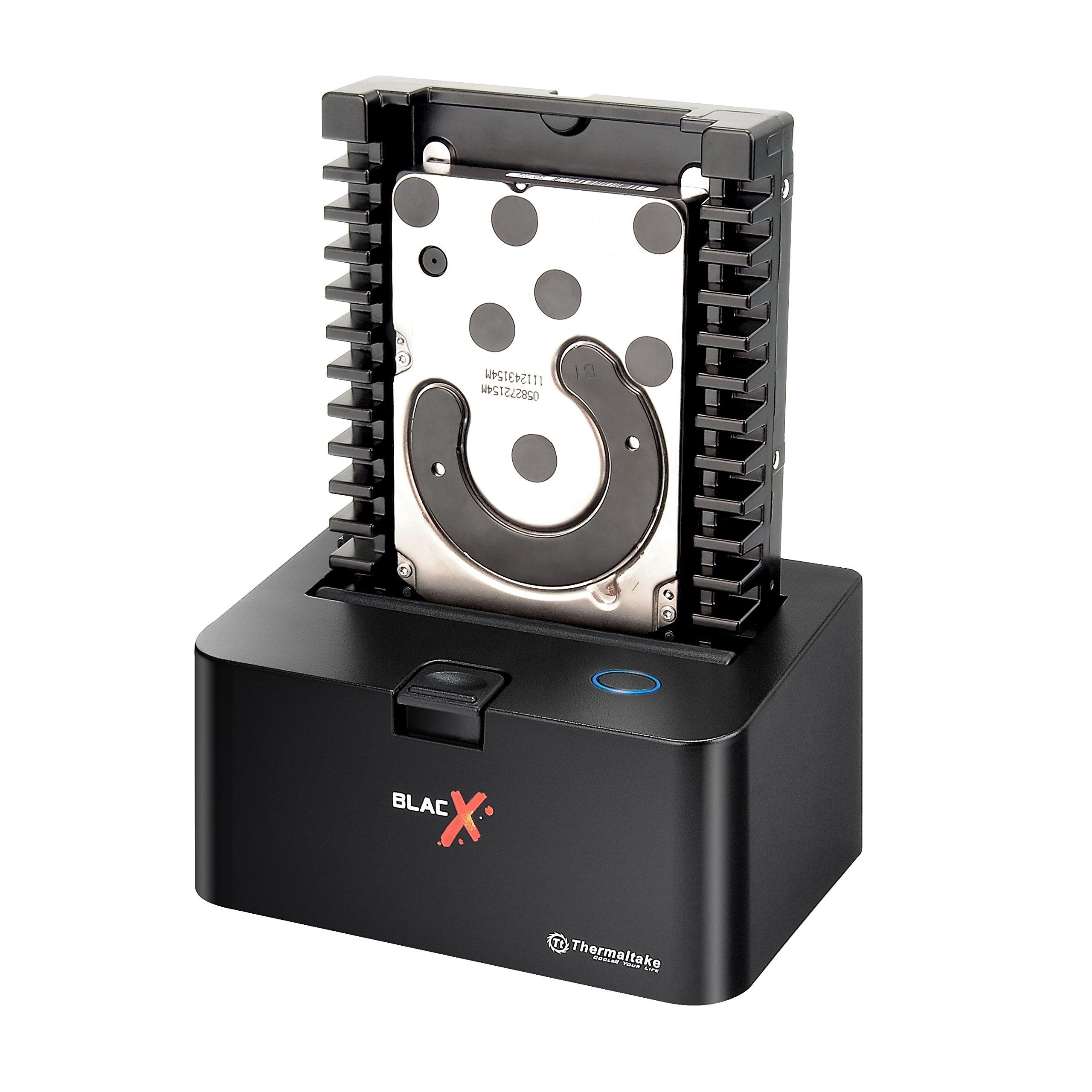 "Thermaltake BlacX 2.5""/3.5"" Sata I/II/III USB 3.0 External Hard Drive Enclosure Docking Station ST0005U-D"