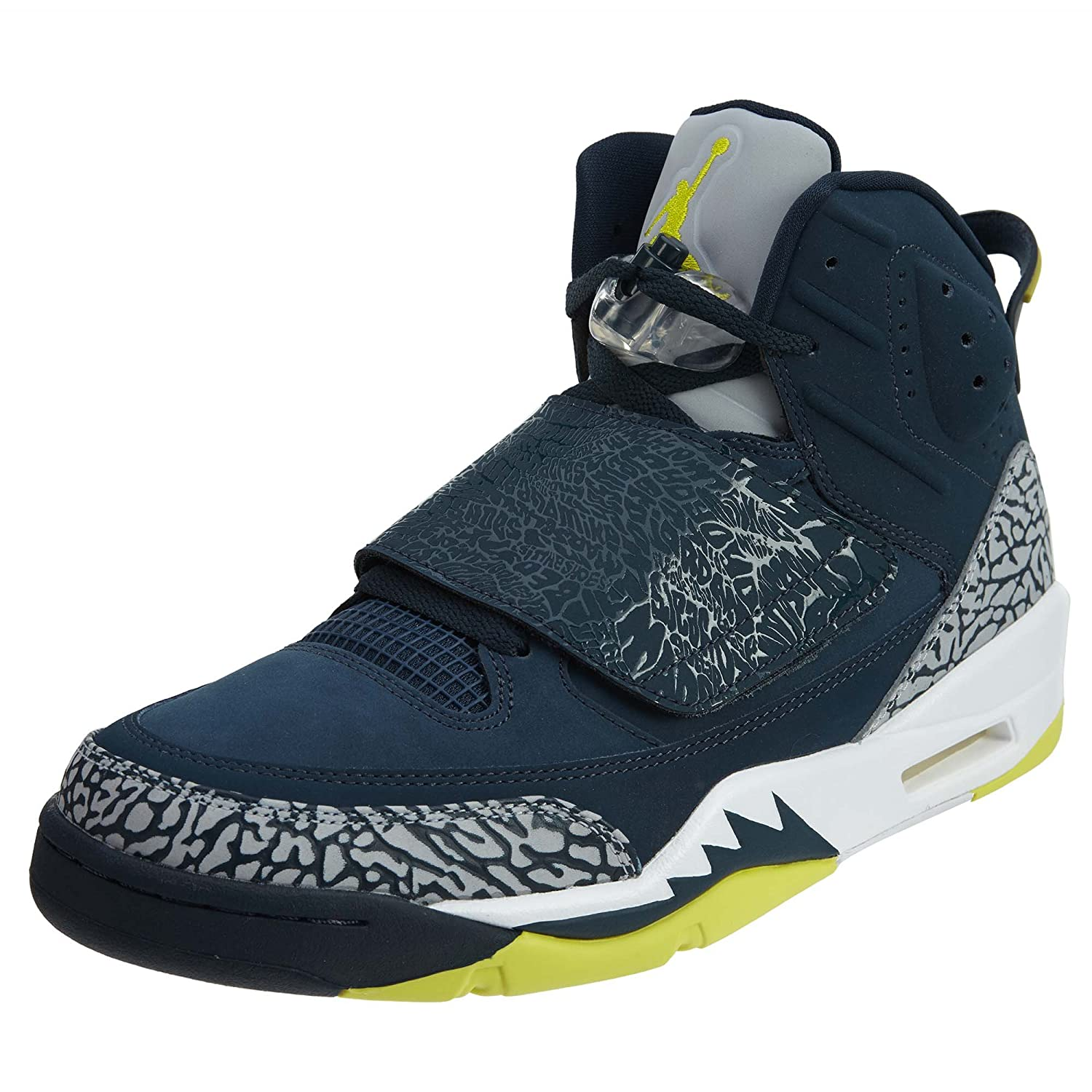 Air Jordan Son Of Stealth-Schuhe  21 EU|Armory Navy/Electrolime-white