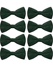 AVANTMEN Men's Bowtie 8 Pack Classic Pre-Tied Satin Formal Tuxedo Bow Tie Adjustable Length Large Variety Colors Available