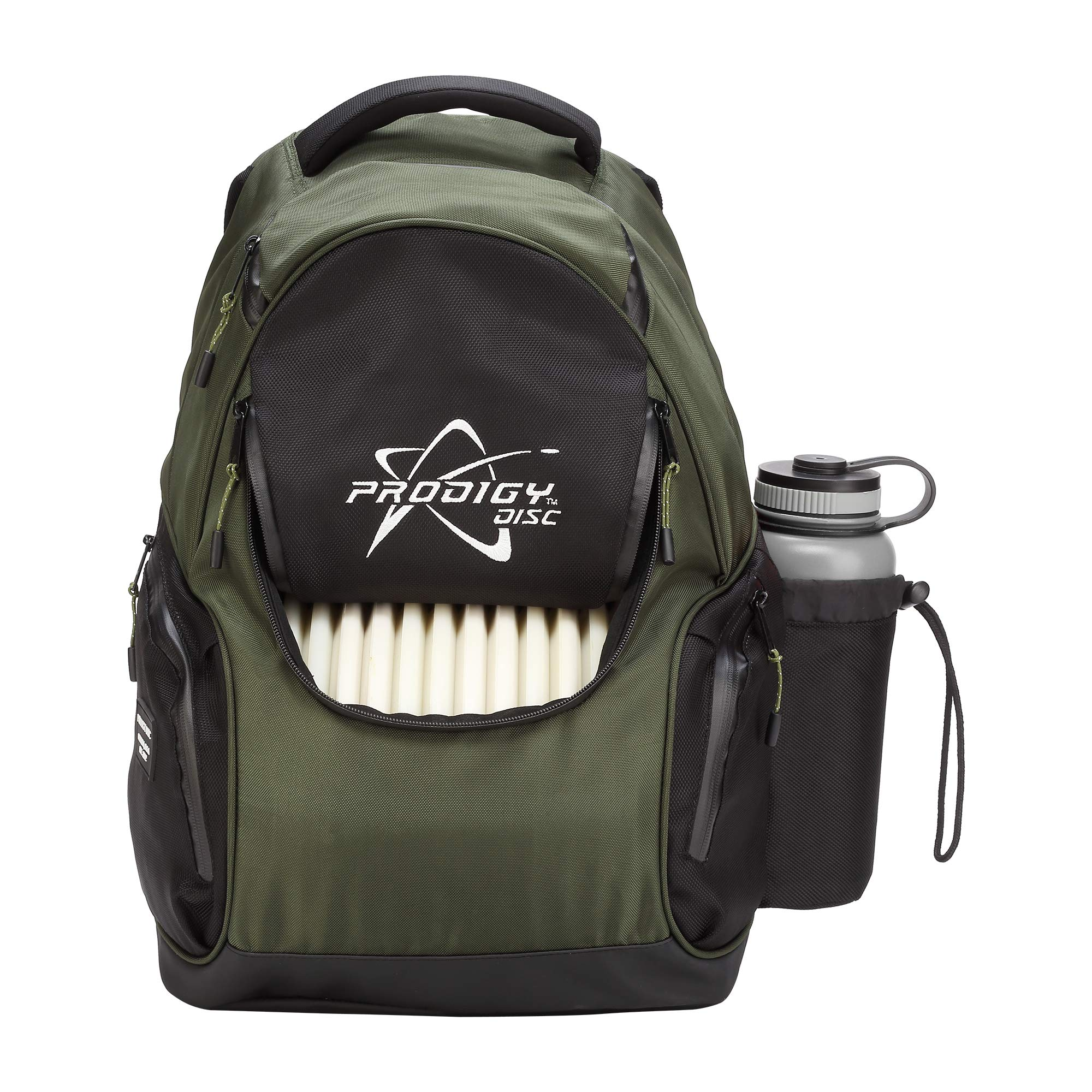 Prodigy Disc BP-3 V2 Disc Golf Backpack - Fits 17 Discs - Beginner Friendly, Affordable (Green/Black) by Prodigy Disc (Image #3)