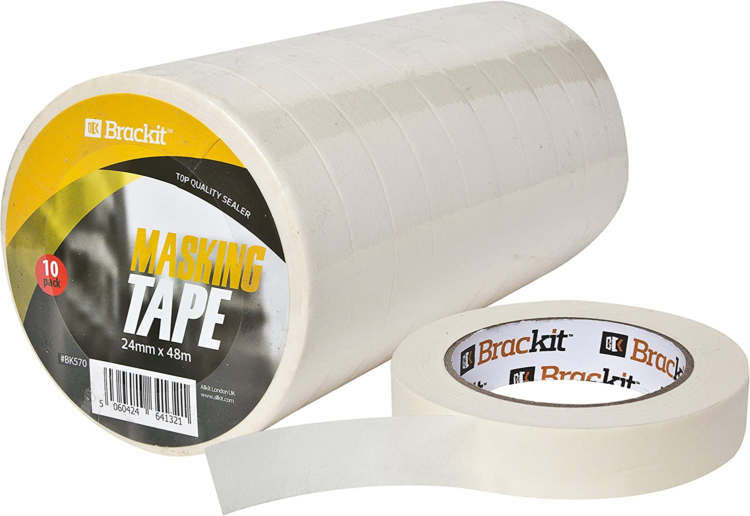 Hinrichs 7 x Masking Tape for Artists 6 Rolls of 50m x 30mm Plus 1 roll of 50m x 20mm Masking Tape for Clean Masking When Painting