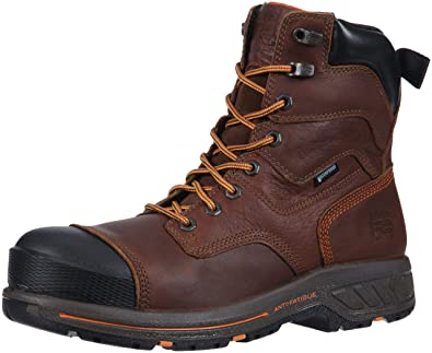 "72afb1a210c Timberland PRO Men's Helix HD 8"" Composite Toe Waterproof Industrial  Boot, Brown Full Grain"