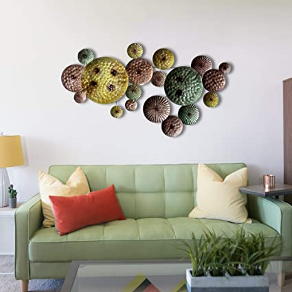 04b3852c9e Inhouse Set of Hammered Circles Metal Wall Art Sculpture Wall Decor and  Hanging …