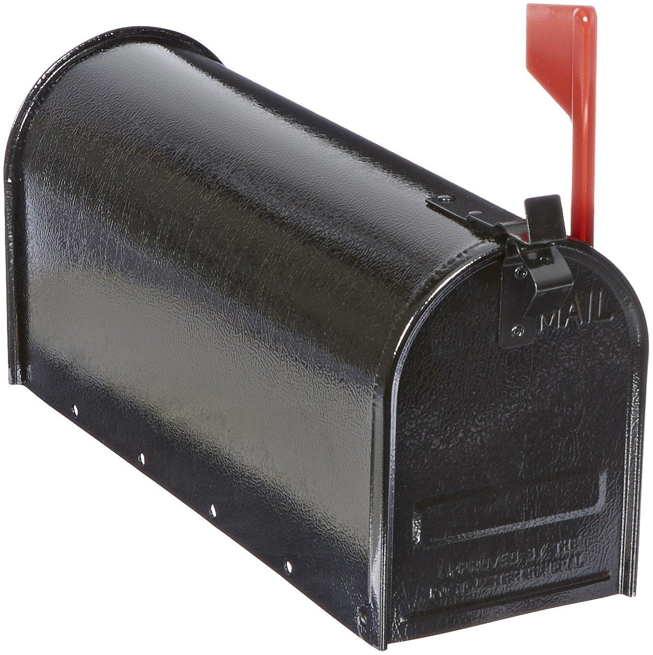 Tapco 034-00115 Steel Economy Mailbox, 19'' Length x 7'' Width x 9'' Height, Black