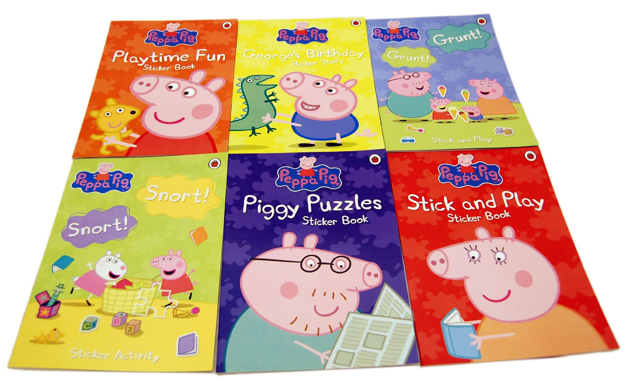 Peppa Pig Sticker Album 5 Sticker Sheets Sticker Album /& Cut Out Bookmarks Gift