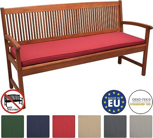 Beautissu Loft BK Cojines para Bancos de jardín colchoneta Asiento Bancos 180x48x5 Rojo Acolchados Elegantes: Amazon.es: Hogar