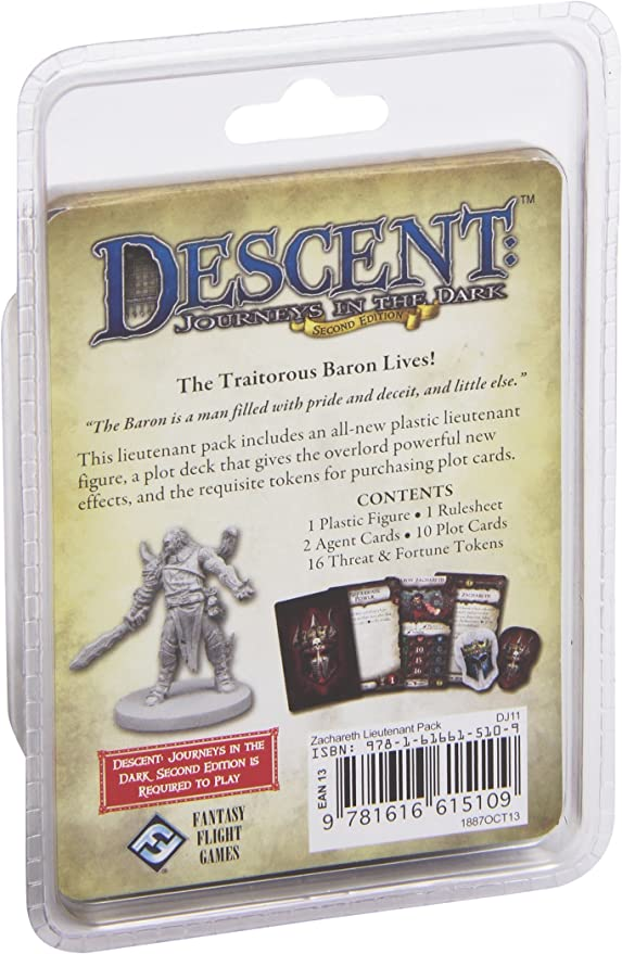 Descent Second Edition: Zachareth Lieutenant Miniature: Fantasy Flight Games: Amazon.es: Juguetes y juegos
