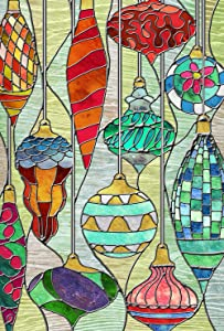Toland Home Garden Stained Glass Ornaments 12.5 x 18 Inch Decorative Colorful Christmas Holiday Window Garden Flag