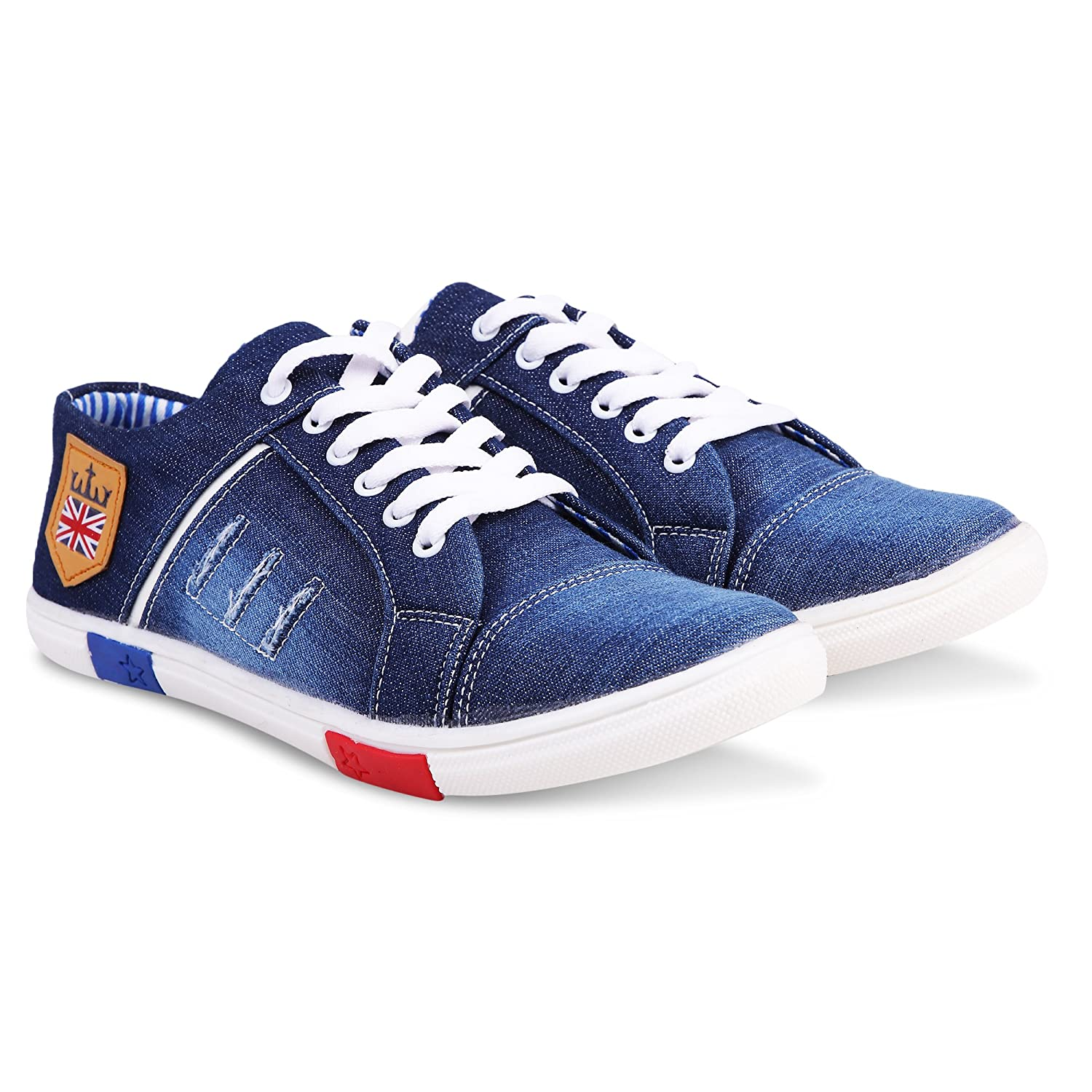 Men's Denim Jeans Sneakers Casual Shoes