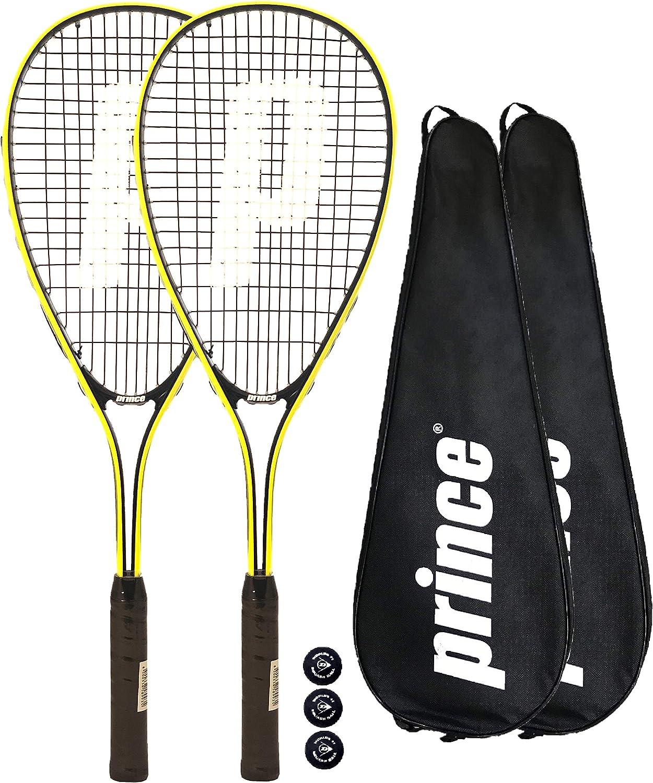2 x Prince Power Rebel Raqueta de Squash + 3 Balls
