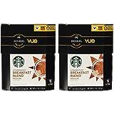 Starbucks Breakfast Blend Medium Roast Coffee Keurig Vue Portion Packs, 32 Count