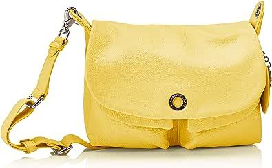 Mandarina Duck Mellow Leather Tracolla, Bolsa de mensajero para Mujer, Rosa, 12x27.5x28 Centimeters (W x H x L)
