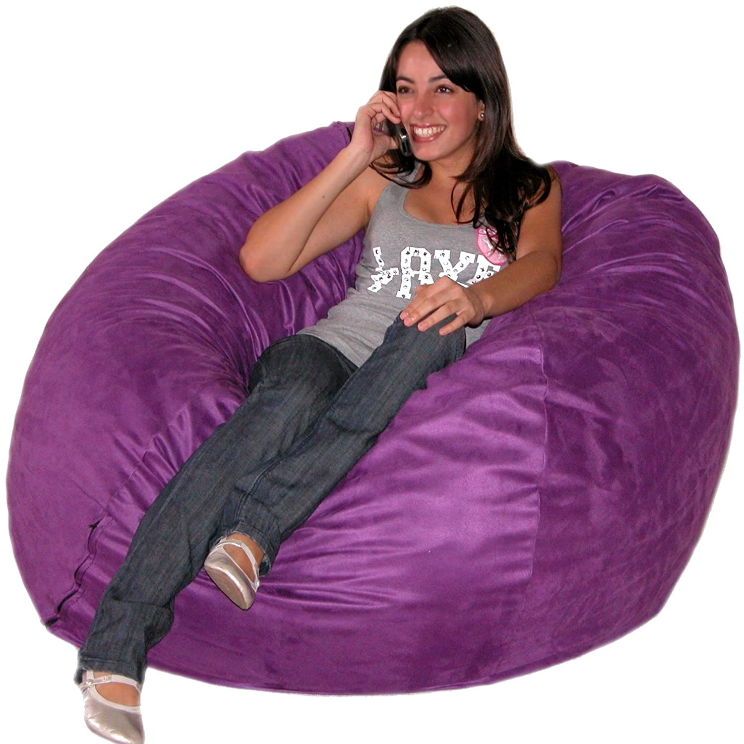 Amazon Cozy Sack 4 Feet Bean Bag Chair Large Purple Kitchen Dining
