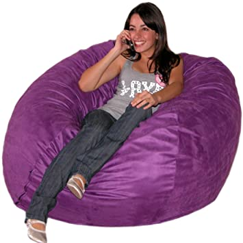 Cozy Sack 4 Feet Bean Bag Chair Large Purple