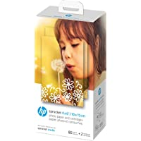 HP Sprocket Studio Photo Paper and Cartridges   4x6 Inch Format   80 Sheets