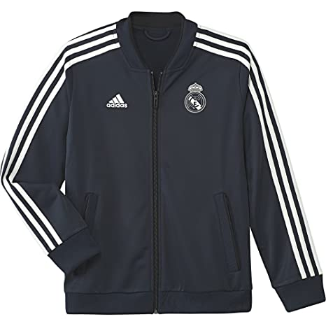 87eece034 Image Unavailable. Image not available for. Color  adidas 2018-2019 Real  Madrid Knitted Presentation Jacket (Dark Grey) - Kids