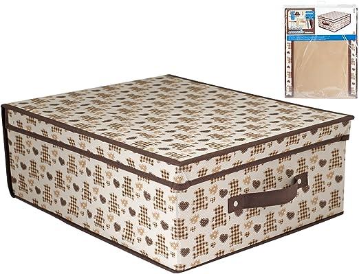 HOME Caja Armario, Tela, Multicolor/Crudo, 50 x 40 x 20 cm: Amazon ...