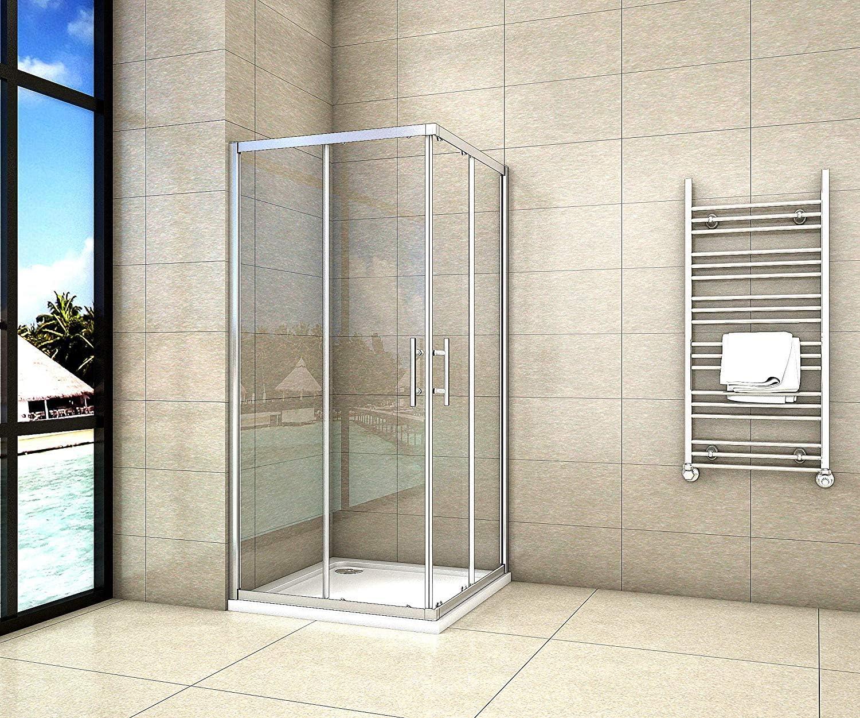 Cabina de ducha esquina. Puerta de ducha 8 mm puerta corredera con al nano-recubrimiento Mampara cr7d5ns10 – 2E V2: Amazon.es: Bricolaje y herramientas
