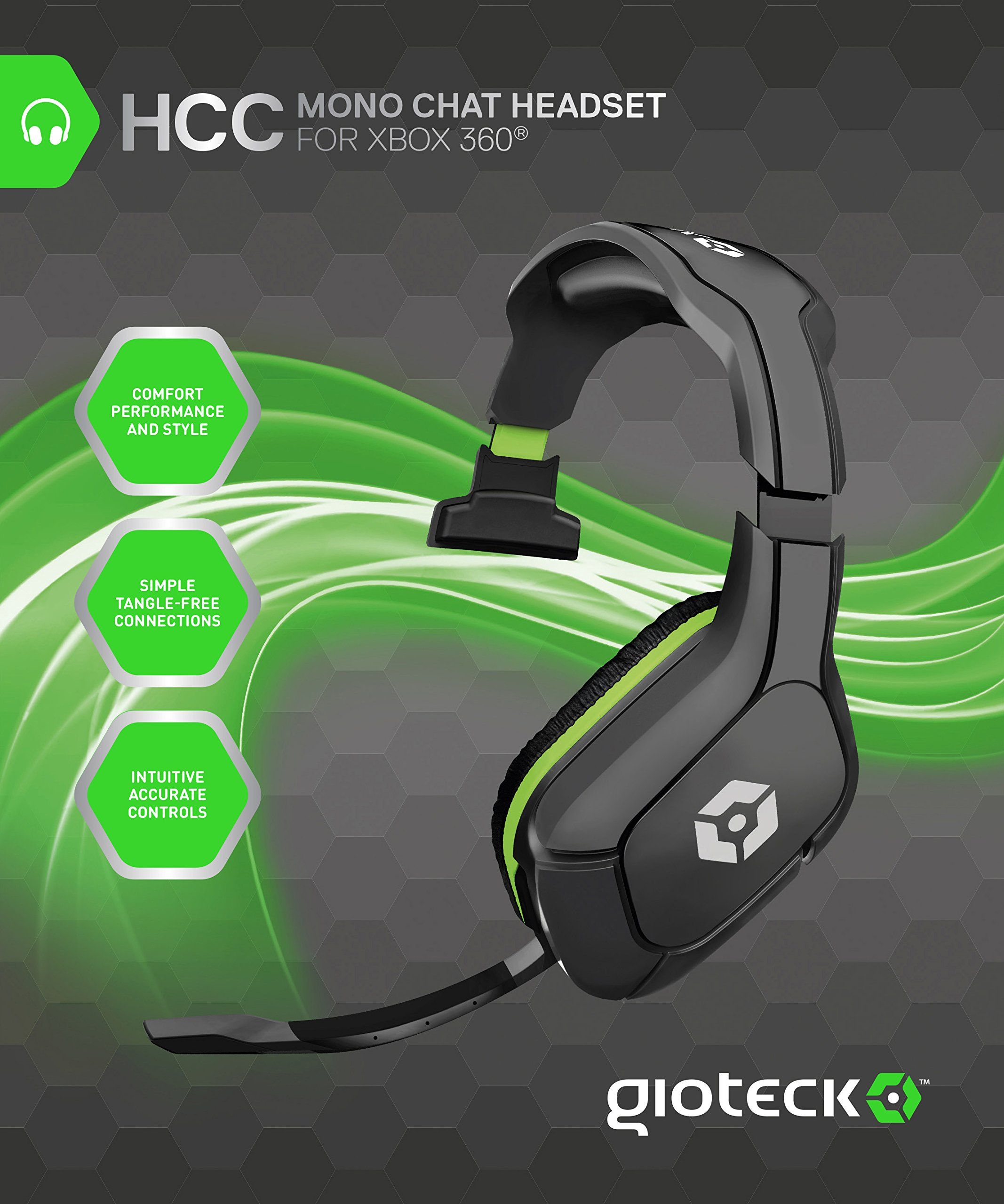 Gioteck HCC Wired Mono Chat Headset - Xbox 360 by Gioteck