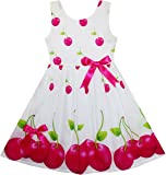 Girls Dress Pink Dot Flower Embroidered Sundress Children Clothes Size 2-6 Years