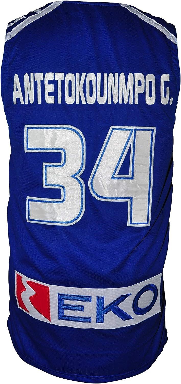 borizcustoms Giannis Greek Freak Basketball Jersey Greece Patch XS-3XL Blue