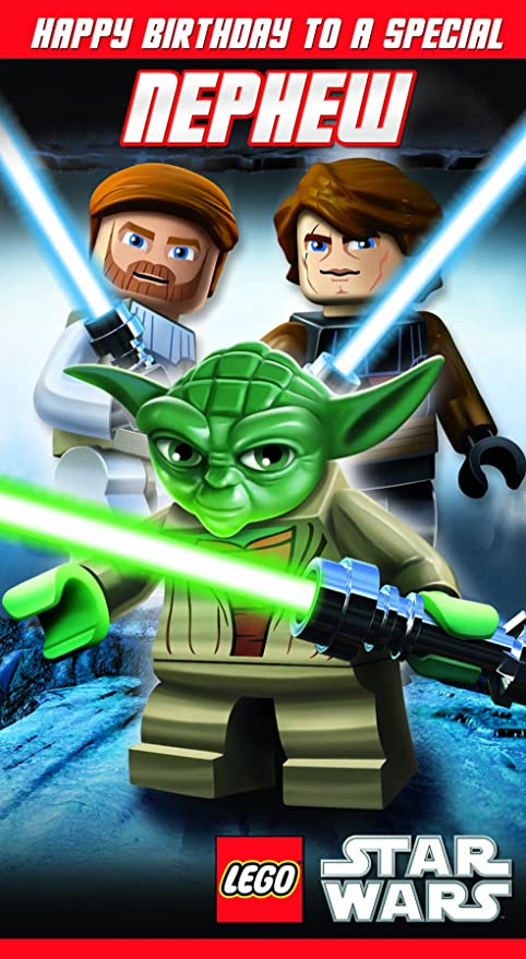 Amazon Lego Star Wars Nephew Greeting Card Office Products