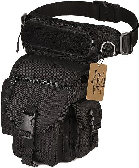 ArcEnCiel Leg Bag Tactical Military Drop Waist Thigh Hip Fanny Pack Tool Gear Pouch