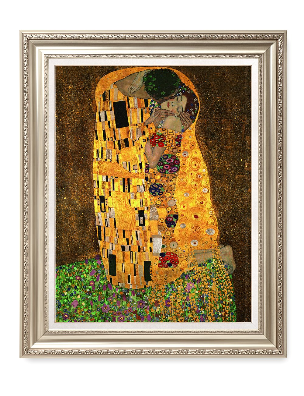 DecorArts - The Kiss, by Gustav Klimt. Giclee Print& Museum Quality Framed Art for Wall Decor. 24x30'', Frame size: 30x36''