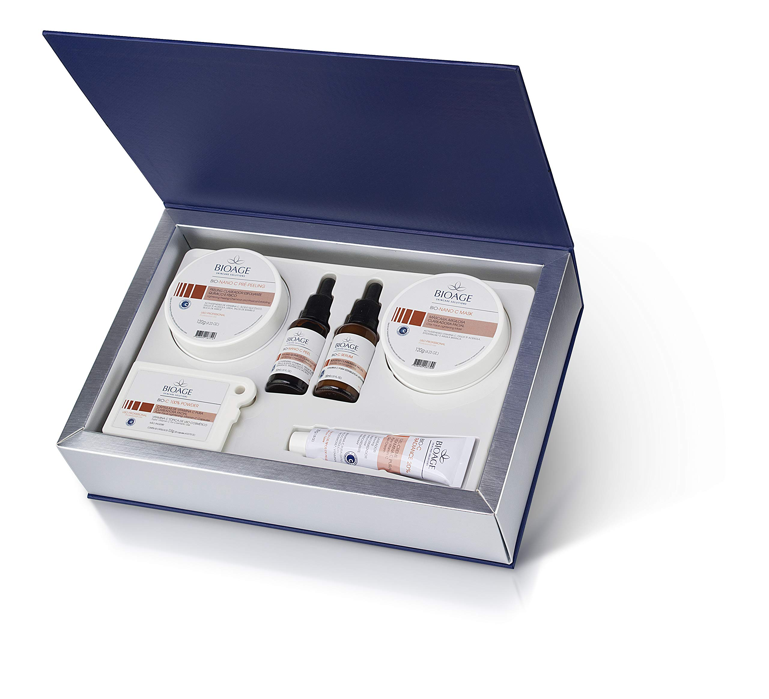 Bio-Clean System Kit New Skin, Powerful facial lightening and revitalization treatment, with a vitamin C, immediate results: renewed skin with an even shade.
